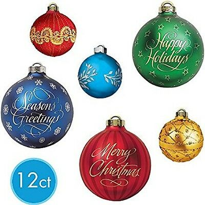 12 Pcs Christmas Ornaments Holiday Party Decoration Cutouts Doublesided 48419724056 Ebay