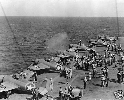 WWII B/&W Photo Battle of Midway USS Yorktown WW2 World War Two US Navy 7079