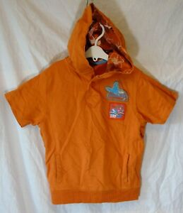 Boys-George-Orange-Cool-Beach-Surf-Short-Sleeve-Hooded-Hoodie-Age-5-6-Years