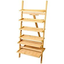 US Art Supply Paint Station Wooden Artist Storage Shelf Easel 6 Shelves FT02