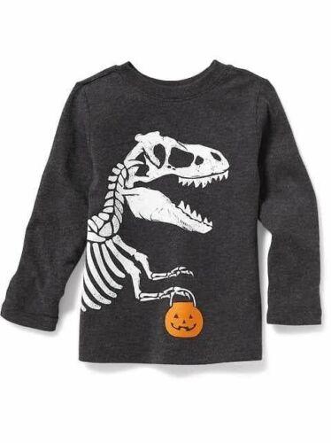 NWT OLD NAVY BOYS T-SHIRT Halloween dinosaur dino trick or treat   u pick size