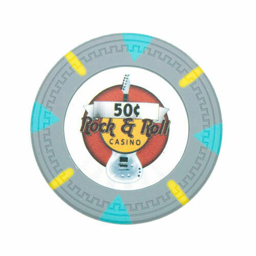 Rock /& Roll 13.5g Clay Poker Chips Sample Set New 12 Denominations
