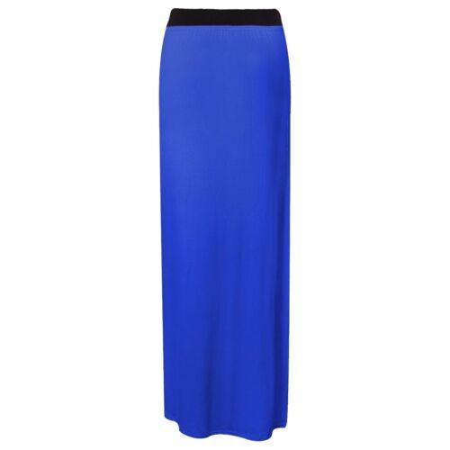 New Womens Ladies Jersey Maxi Dress Skirt Plain Long Gypsy  All Sizes