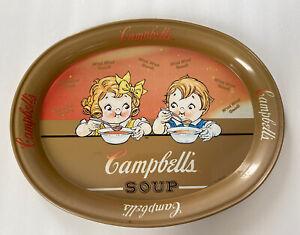 "Vintage Campbells Soup 11"" Metal Oval Serving Tray 1998"