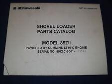 KAWASAKI 95ZV-2 WHEEL LOADER PARTS CATALOG BOOK MANUAL S//N 97C5-5001