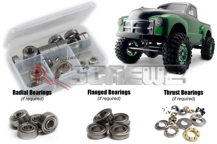 Axial Racing Scx10 Caucho Blindado Kit de rodamientos axi002r Rc Screwz