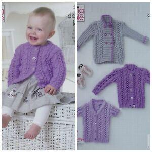Free UK P/&P King Cole Baby Jacket Sweaters /& Cardigan Big Value Kn...