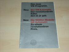 49252) VW 1600 Automatic Prospekt 08/1967