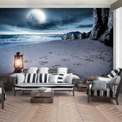 Fototapete Tapete Poster 219192FW Mond Strand und Tropen