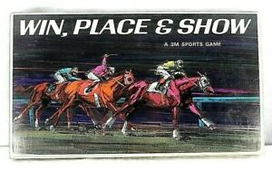 Vintage-Win-Place-amp-Show-Horse-Racing-Board-Game-1966-3M-Sports-Games-Complete