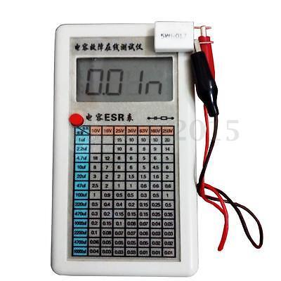 Portable Digital Capacitor ESR Tester Internal Resistance Meter Test In Circuit
