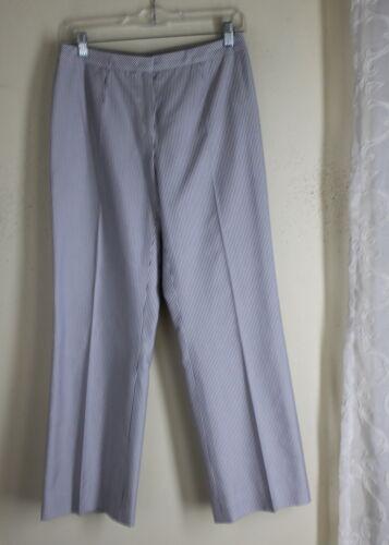 bomuld Silk Stripe Bukser sz Lovely Escada Bukser Fabulous 36 Oxford xzqIYztw