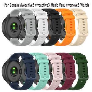 Armband-20mm-Gurt-fuer-Garmin-vivoactive3-vivoactive3-Music-Venu-vivomove3-Watch