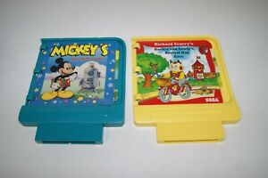 Sega-Pico-Game-Cartridges-Richard-Scarry-Busiest-Day-amp-Mickey-039-s-Blast-into-Past