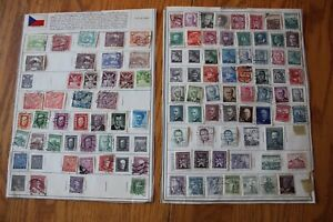 A31-Lot-of-Czechoslovakia-Stamps-on-3-Minkus-binder-Pages