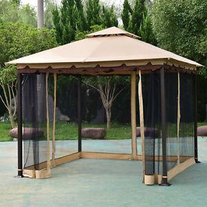 Image is loading 2-Tier-10-039-x10-039-Gazebo-Canopy- & 2-Tier 10u0027x10u0027 Gazebo Canopy Tent Shelter Awning Steel Patio ...
