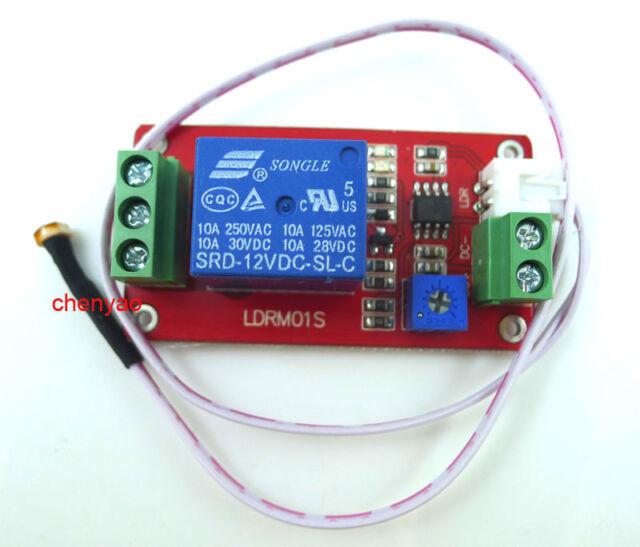 12V car Led light control photoresistor with relay module light detection sensor