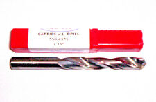 ".4375 JOBBER 7//16/"" STD CARBIDE 25 deg HELIX 118 deg SPLIT PT DRILL /""NEW/"""
