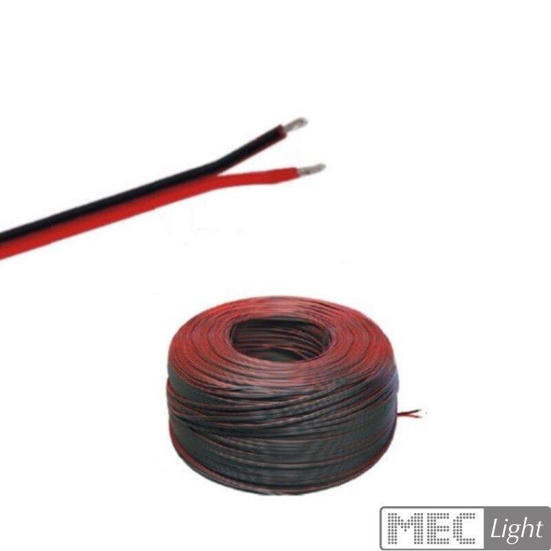 (  m)5-100m LED Kabel Zwillingslitze 2x 2,50mm² rot schwarz 2-adrig - Länge