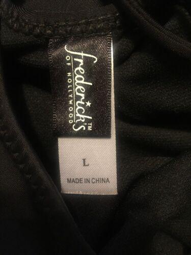Deep V Plunging Neckline One-Pc Swimsuit W//Strappy Back,Black Sz M//L* $79 NWT