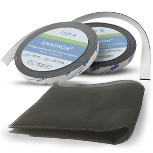 Fliegengitter mit Magnet Magnetband+Gitter-Set WEISS bis 100cm Fenster-Breite