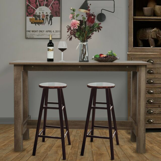 Rustic Wood Counter Height Farmhouse Dining Room Kitchen Table Country Furniture For Sale Online Ebay