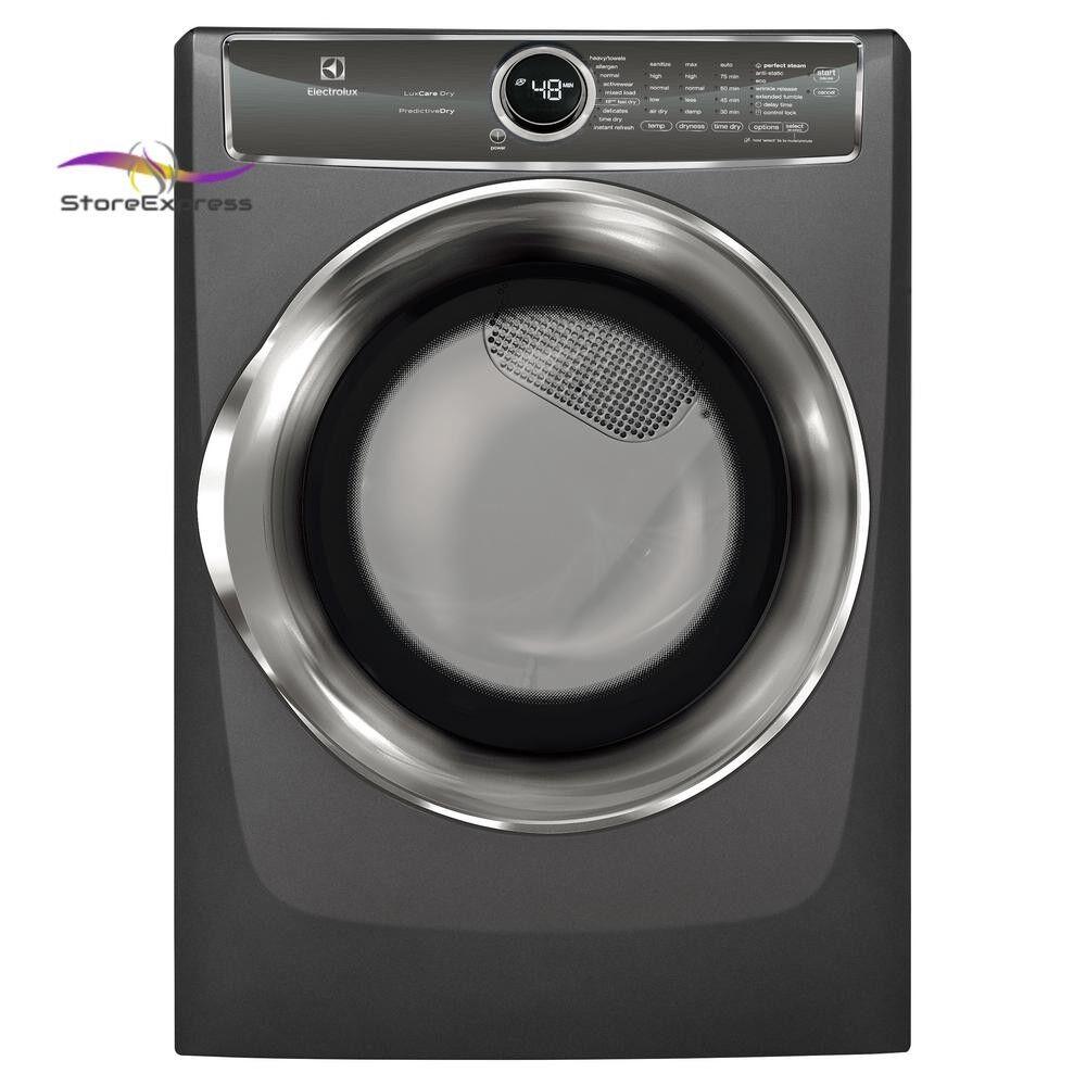 8.0 cu. ft. Gas Dryer with Steam, Predictive Dry in Titanium