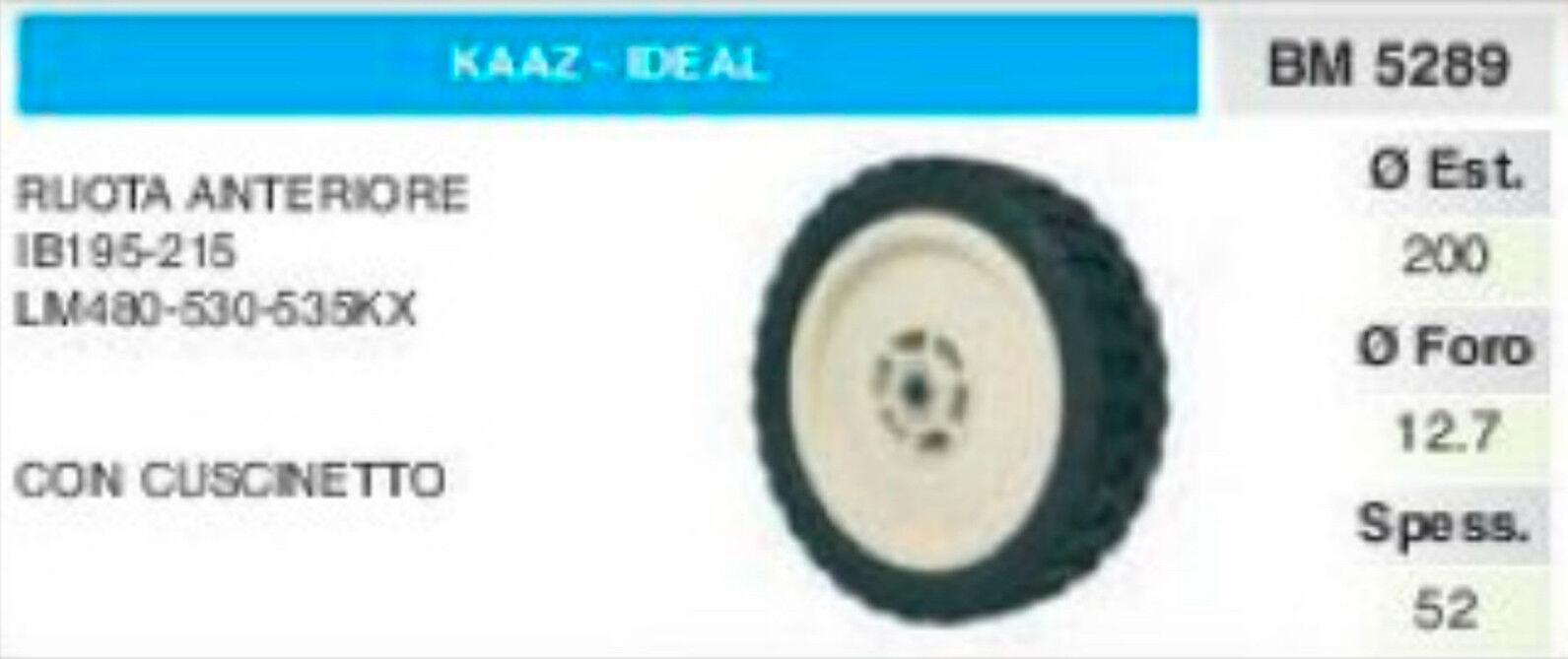 Roue Antérieure Tondeuse à Gazon Kaaz Ideal Ib 195 21lm 480 530 535 Coussinet