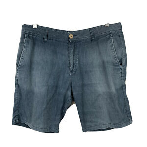 Katin-Mens-Short-Size-34-Americas-Surf-Co-Chambray-Blue-Good-Condition