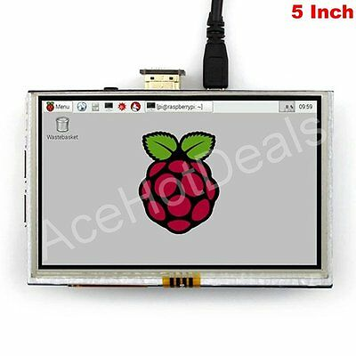"""5"""" TFT LCD HDMI Resistive Touch Screen LCD 800x480 for Raspberry Pi 2/3"""
