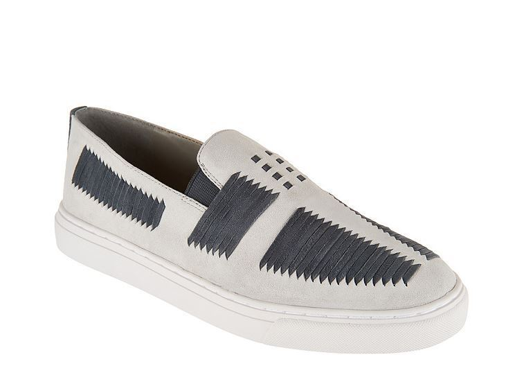 NEW Detail Lori Goldstein Collection Slip-On Sneakers with Suede Detail NEW SZ 11M ASH GREY 04c697