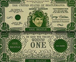 Beatles-1964-Vintage-Money-George-Harrison-One-Beatles-Dollar-Bill-NM-COA