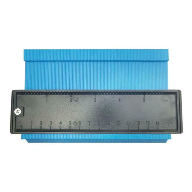 "5/"" Contour Profile Gauge Tiling Laminate Edge Shaping Measure Ruler Tool 146mm"