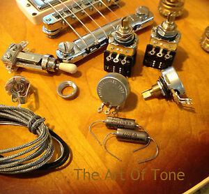 taot wiring kit les paul short shaft push pull cts pots k40y 9 rh ebay com