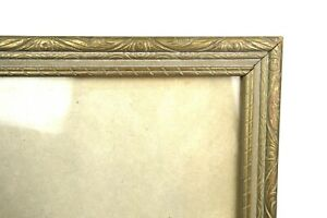 Antique-Art-Nouveau-Ornate-Gold-Gilt-Gesso-Photo-Picture-Frame-Fits-10-034-x-8-034