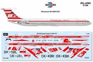 Revaro Decal IL-62M CSA Ceskoslovenske aerolinie for Zvezda model kit 1/144