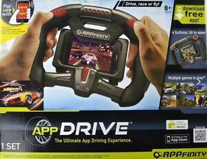 Details about AppFinity - AppDrive Motion Controlled Steering Wheel Driving  App Game **NEW**