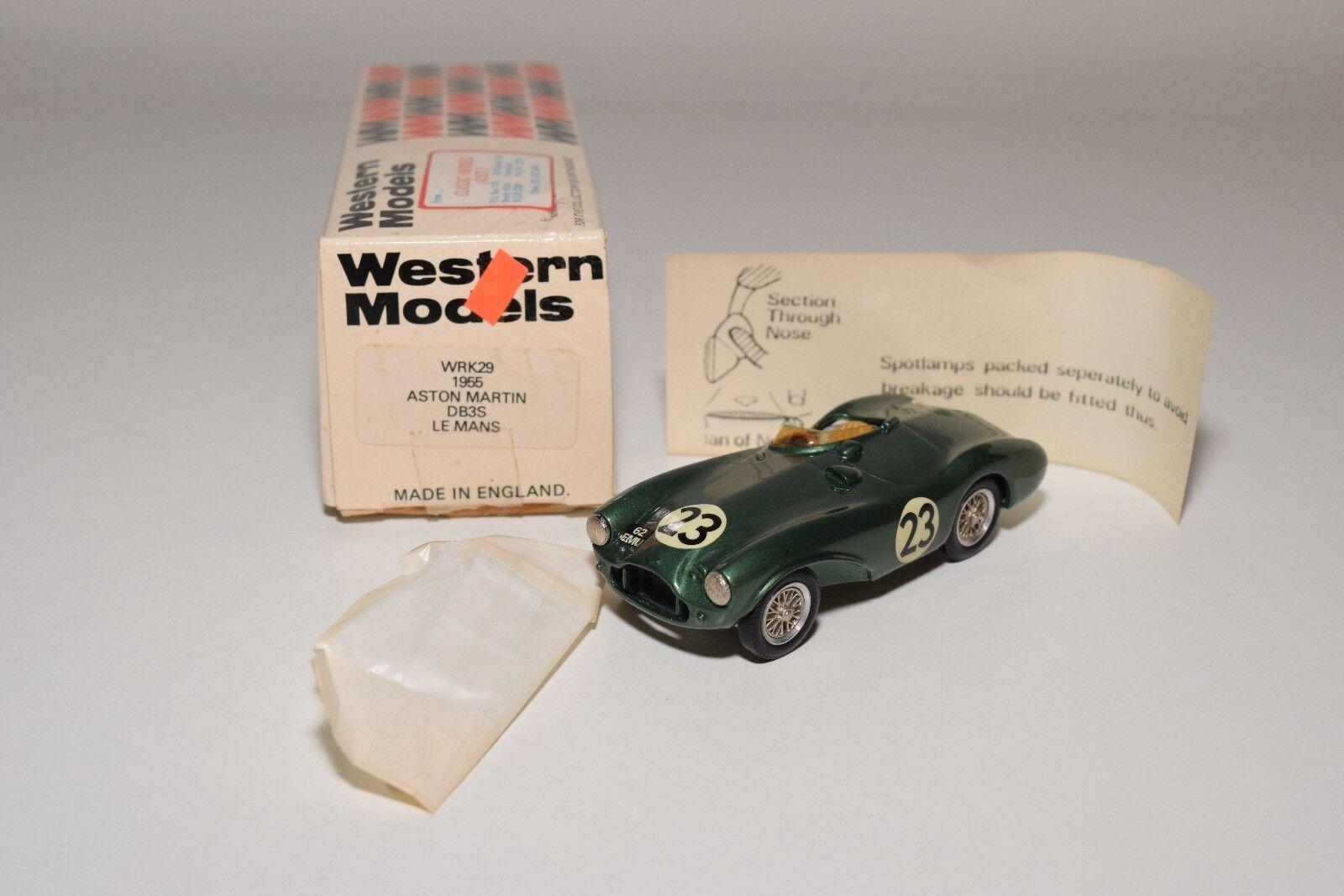 Ich westlichen modellen wm wrk29 1955 aston martin db3s le mans traf.grüner minze umzingelt