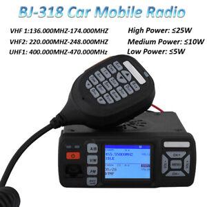 Baojie BJ-318 Mini Dual band Car Mobile Radio 136-174 400-490MHz Walkie Talkie