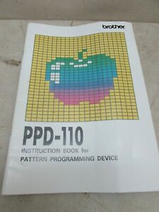 Vintage Brother Knitting Machine PPD110 Instruction Book ...