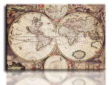 """Gran Impresión Arte Pared Cuadro lienzo del mundo antiguo mapa enmarcado 20""""x30"""""""