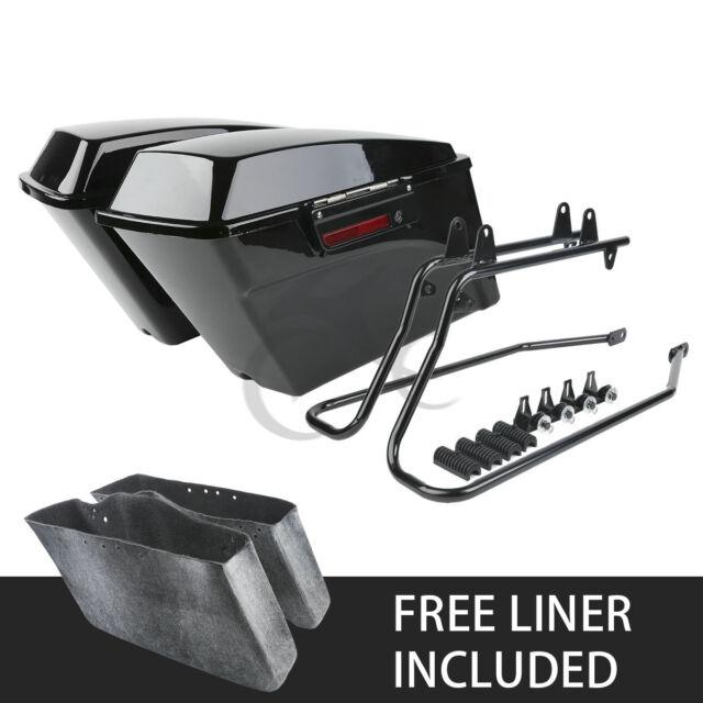 Saddlebag Saddle Bag W/Conversion Brackets For Harley Heritage Softail Springer
