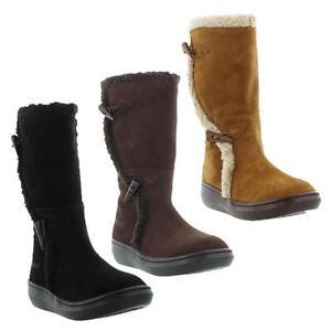 Rocket-Dog-Slope-Womens-Black-Brown-Suede-Leather-Boots-Size-UK-3-8