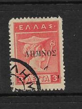 LEMNOS 1912-13 3L OVPT  FU  SG 4a