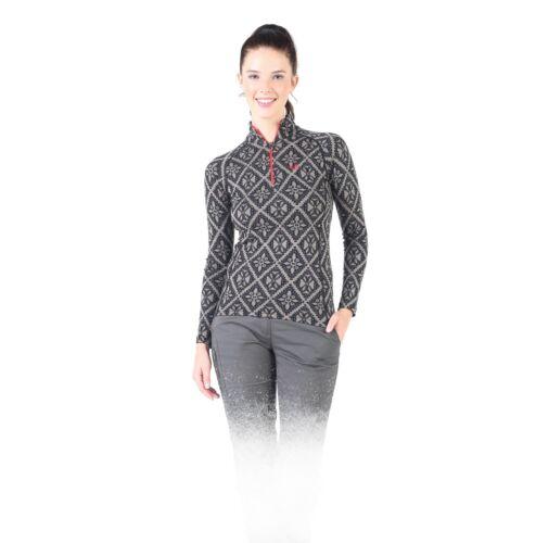 Langarmshirt Damen Zip Funktions und Skiunterwäsche Baselayer 100/% Merinowolle