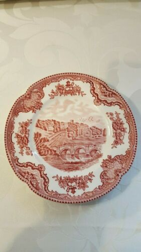 Old Britain Castles Pink Bread and Butter Plate by Johnson Bros England