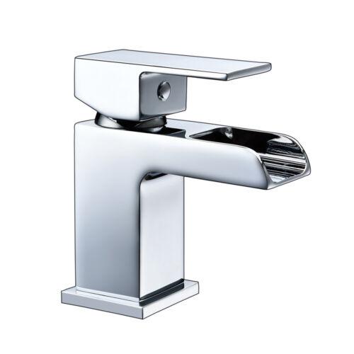 HAPILIFE CHROME BRASS WATERFALL SINK BASIN MONO BATH FILLER SHOWER MIXER TAP