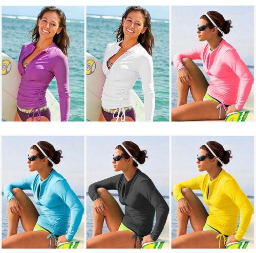 Lynddora Women/'s UV Sun Protection Long Sleeve Rash Guard Wetsuit Swimsuit Top
