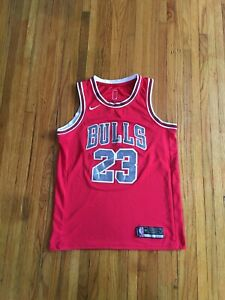 best service 2bc92 d62b2 Details about Nike Swingman Chicago Bulls Michael Jordan Number 23 Red NBA  Basketball Jersey