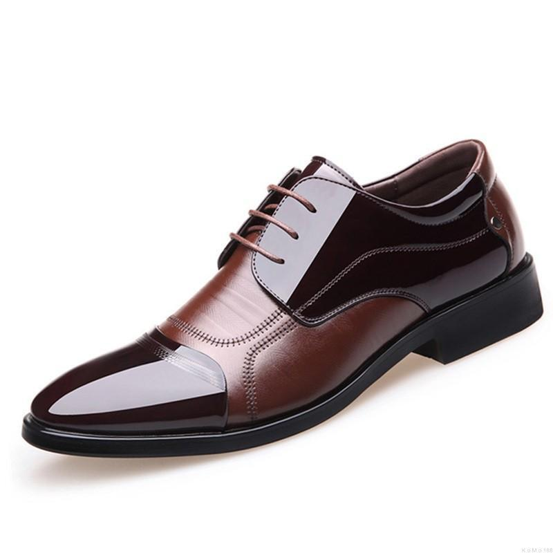 Mens Pointed toe Lace up Dress Formal Business Dress Formal Casual shoes Oxfords